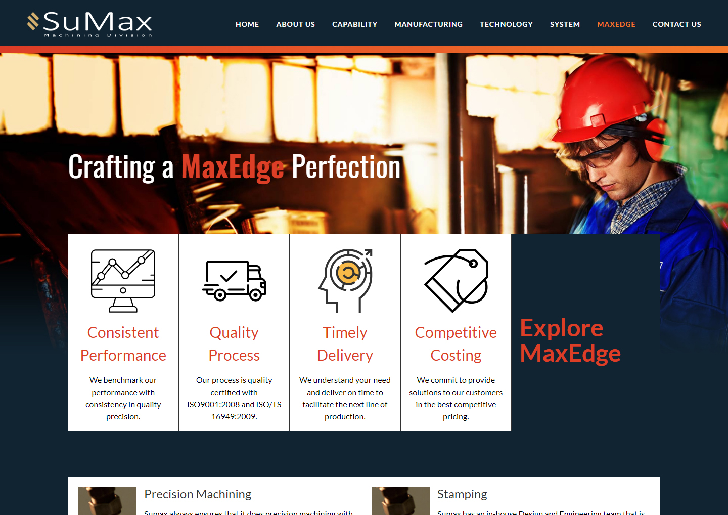 Impals Website Development - Sumax Machining